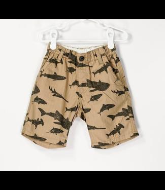 Tan Shark Shorts