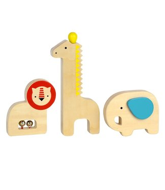 PetitCollage Musical Wooden Animal Instrutments