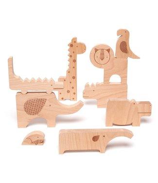 PetitCollage Safari Wood Puzzle