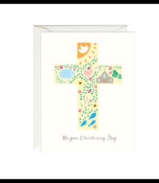 Paula & Waffle Christening Cross