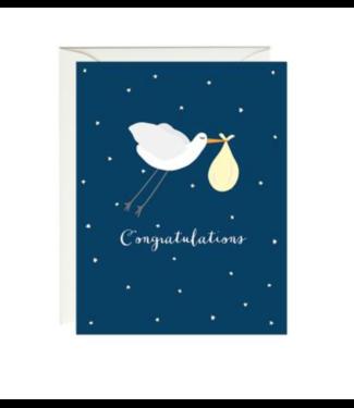 Paula & Waffle Stork Baby Card