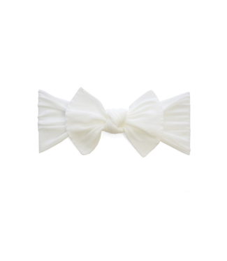 Baby Bling Knot Bow Headband White