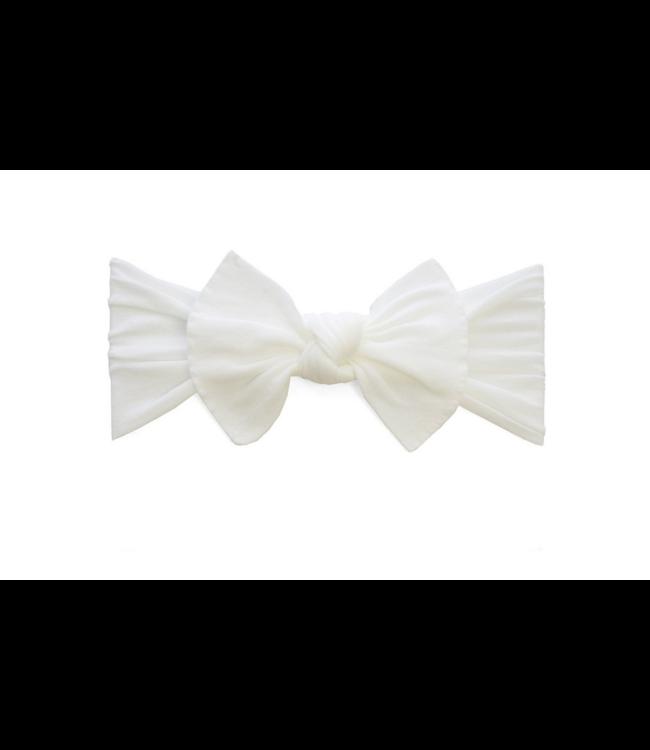 Baby Bling Knot Bow Headband White