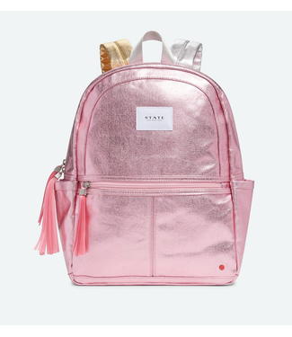 State Bags Kane Backpack Pink/Silver Metallic