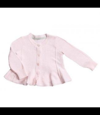Angel Dear Pale Pink Seed Stitch Cardigan