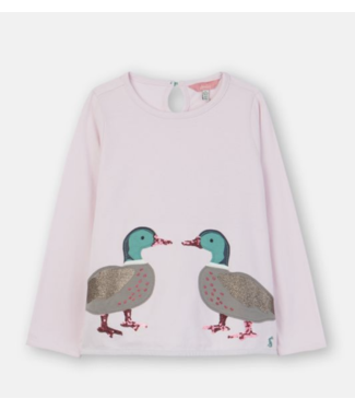 Joules Chalky Pink Ducks Tee
