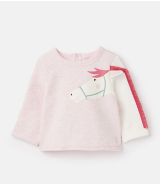 Joules Pink Horse LS Tee
