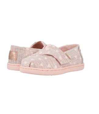 Toms Classic Rose Gold Heartsy Twill Glimmer