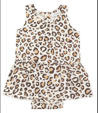 Angel Dear Leopard Bodysuit with Skirt