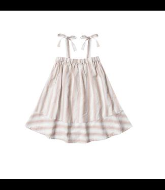 Rylee + Cru Petal Stripe Shoulder Tie dress