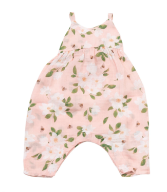 Angel Dear Magnolias Tie Back Romper/Overall