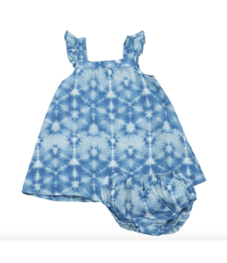 Angel Dear Indigo Shibori Sundress