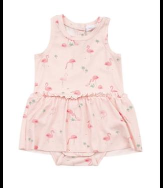 Angel Dear Flamingos Bodysuit with Skirt