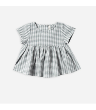 Rylee + Cru Gingham Jane Blouse Sea
