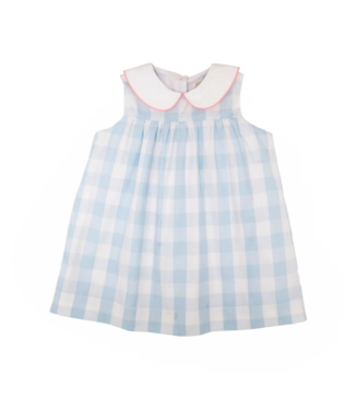 Sleeveless MaerinFritz Frock Buckhead Blue Check with Pink