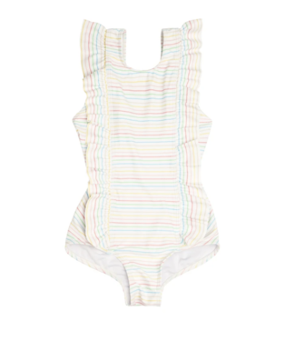 Minnow Swim Antique Rainbow Ruffle One Piece