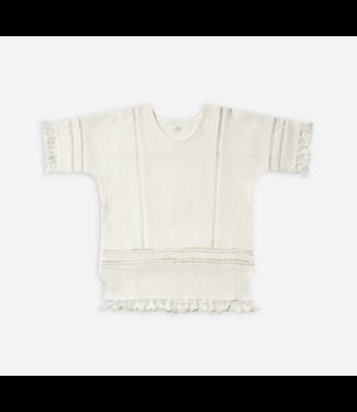 Rylee + Cru Tassel Cover Up Ivory