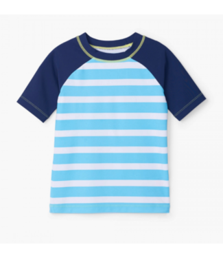 Hatley Blue Stripe SS Rashguard