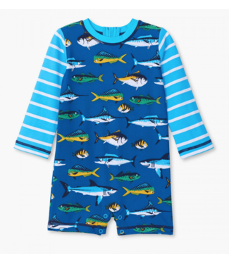 Hatley Game Fish One Piece Rashguard
