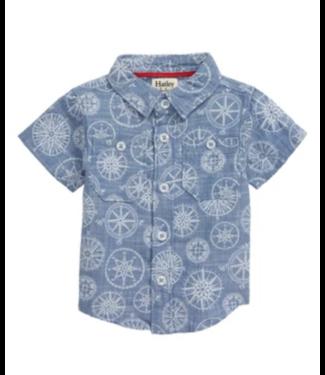 Hatley Nautical Compass Blue Button Down Shirt