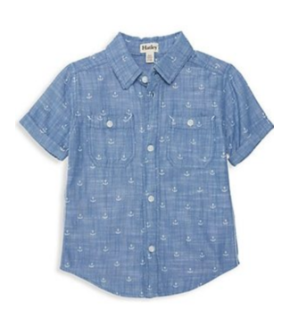 Hatley Chambray Anchors SS Button Down Shirt
