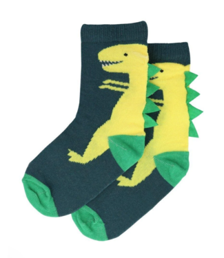 Dinosaur Crew Socks 3-5Y (Shoe 7-9)