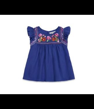 Girls Kuzu Embroidery Dela Top