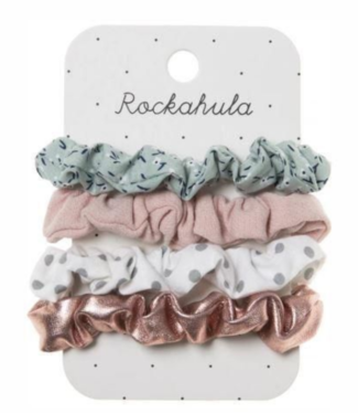 Ditsy Garden Mini Scrunchies (4pack)