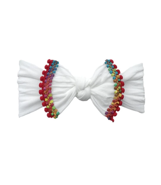 Baby Bling Trimmed Classic Knot White Cinco