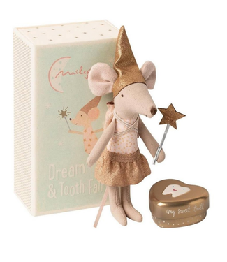 Tooth Fairy Mouse in Box- Girl