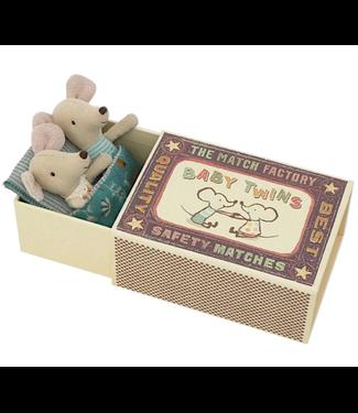 Baby Twin Mice in Box