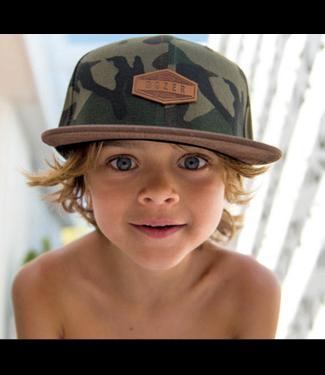 Boys Kristian Flat Brim Hat Camo