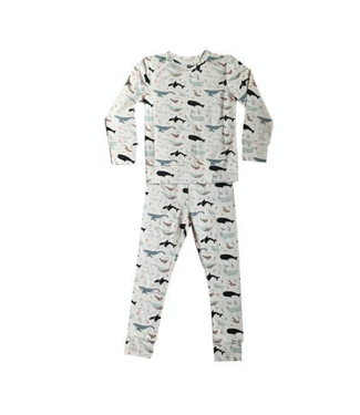 Bird and Bean Sea Life Two Piece PJ Set