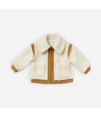 Rylee + Cru Natural Sherpa Coat