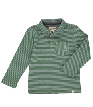 Me & Henry Green Striped Polo
