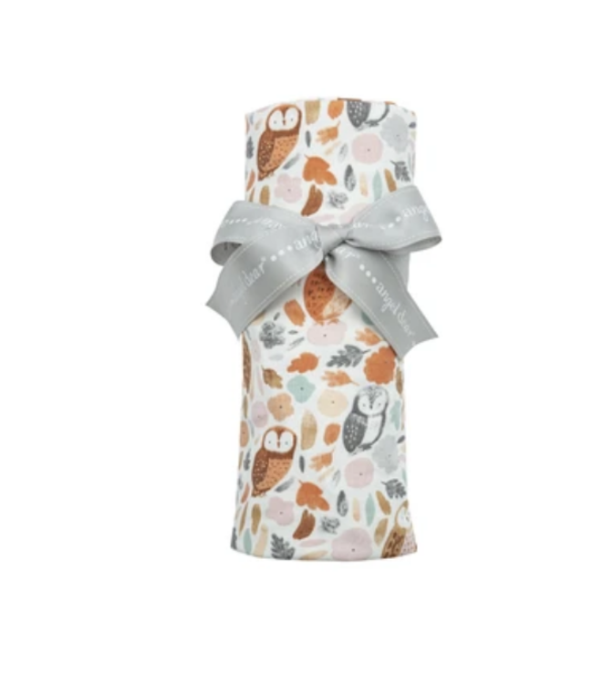 Angel Dear Autumn Owls Knit Swaddle
