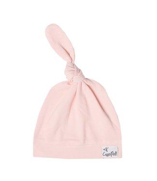 Blush Top Knot Hat