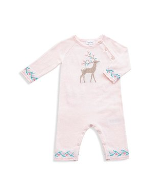 Angel Dear Western Wilderness Knit Deer Pink Coverall