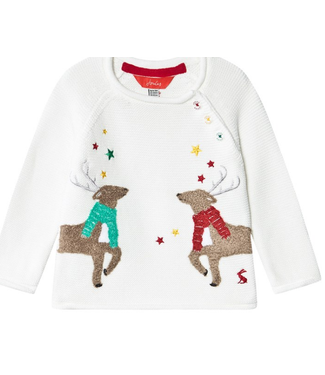 Joules Winnie White Raindeer Sweater