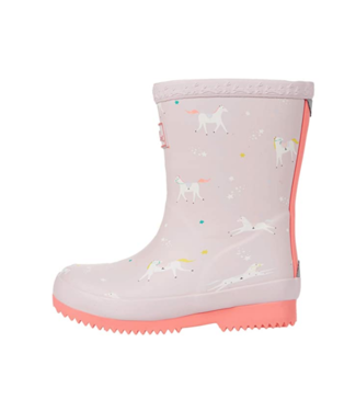 Joules Baby Pink Unicorn Rain Boots/Welly