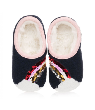 Joules Blue Rainbow Slipper