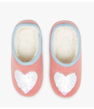 Joules Pink Heart Slipper