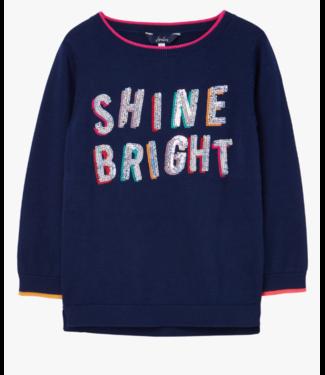 Joules Miranda Shine Navy Sequin Sweater
