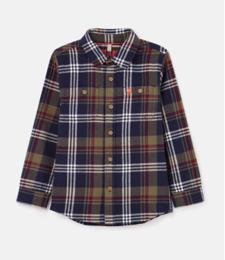 Joules Hamish Navy Check Flannel Shirt
