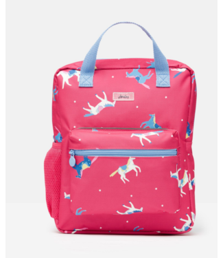 Joules Pink Horses Backpack