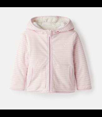 Joules Cosette Pink Stripe Reversable Jacket