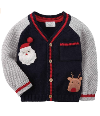 Boy Infant Christmas Cardigan