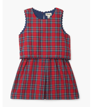 Hatley Holiday Plaid Layered Dress