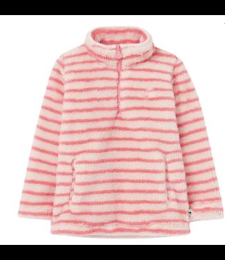 Joules Merridie Cozy Fleece Pink Stripe