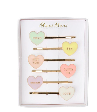 Candy Heart Enamel Hair Slides